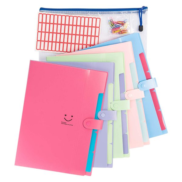 5 Pockets Expanding File Folders